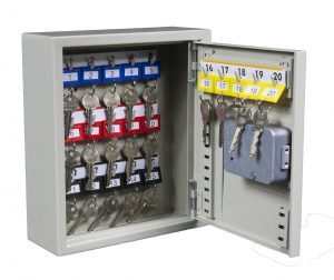 Thornhill Security Limited key cabinet TH20 for 20 keys shown open